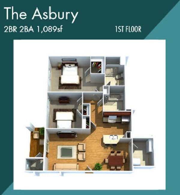 Creekstone Apartment Fairport NY The Asbury Apartment Floorplan