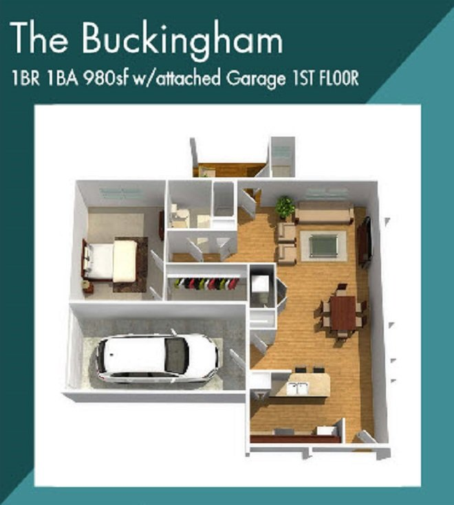 Buckingham apartment floorplan