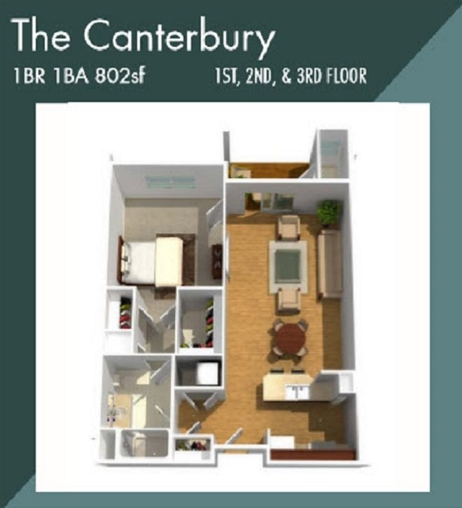 Creekstone Apartment Fairport NY The canterbury apartment floor plan