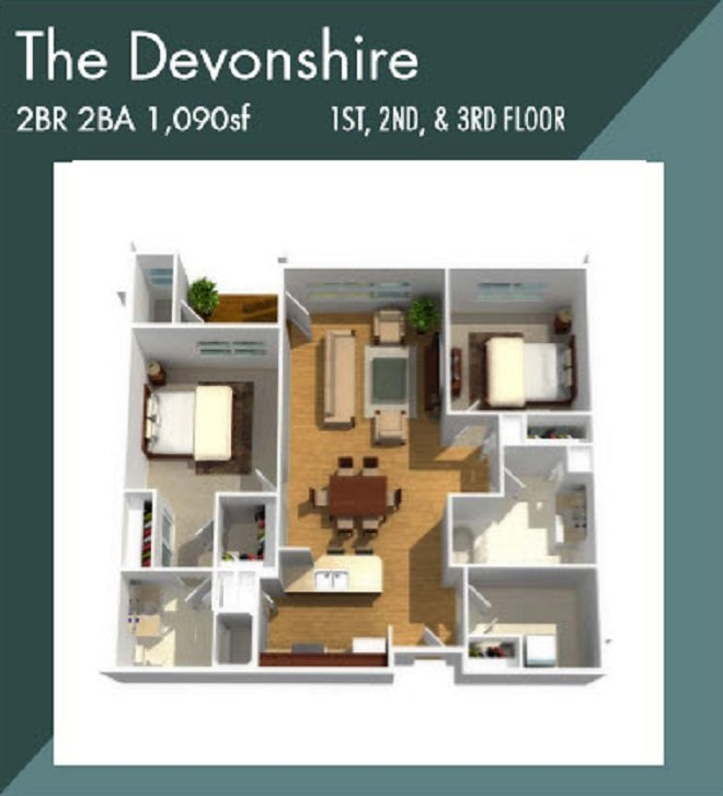 Devonshire apartment floorplan
