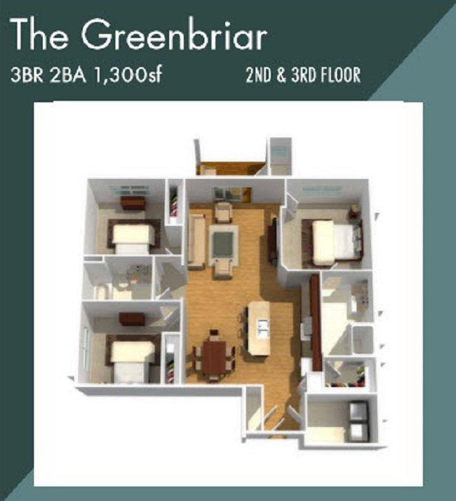 Creekstone Apartment Fairport NY Greenbriar apartment floorplan