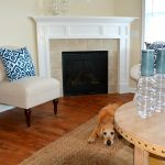 Creekstone home for rent fireplace with dog